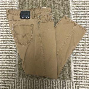 "Levi's 514 Straight Fit Men's Jeans Tan 34"" x 30"""